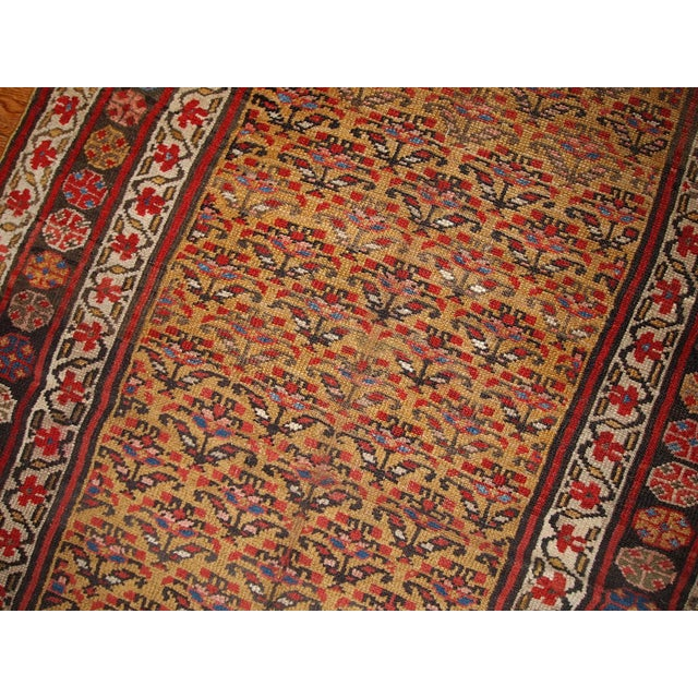 1880s Hand Made Antique Persian Kurdish Rug - 4′1″ × 7′8″ - Image 4 of 6
