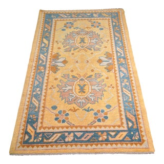 "Bellwether Rugs Yellow & Blue Turkish Oushak Rug - 3'1""x5'5"""