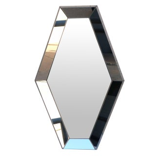 1970s Hexagonal Bevel-Sided Mirror