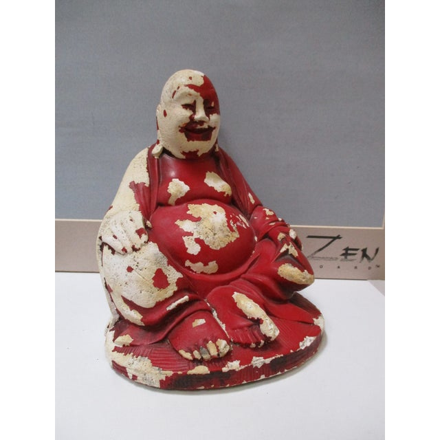 Vintage Red Happy Buddha - Image 9 of 10