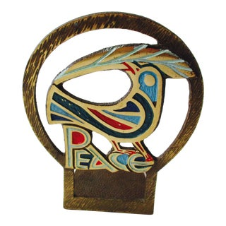 Modernist Peace Dove Bookend