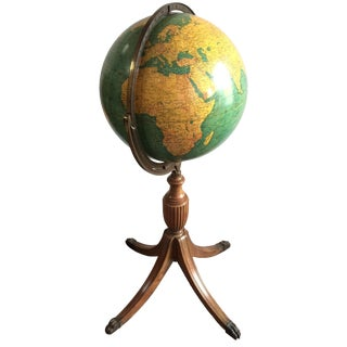 1930s Globe on Regency Lion's Paw Stand