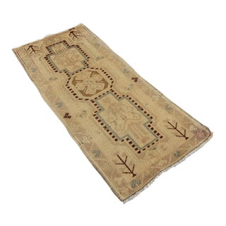 Antique Tribal Oushak Hand Knotted Turkish Rug - 1′5″ × 3′4″