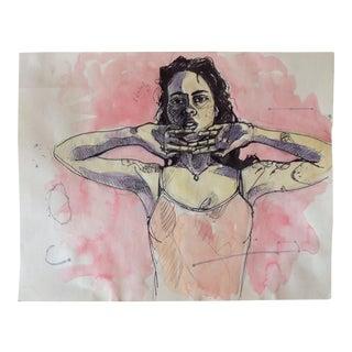 Pete Langway Watercolor & Ink Figurative Drawing