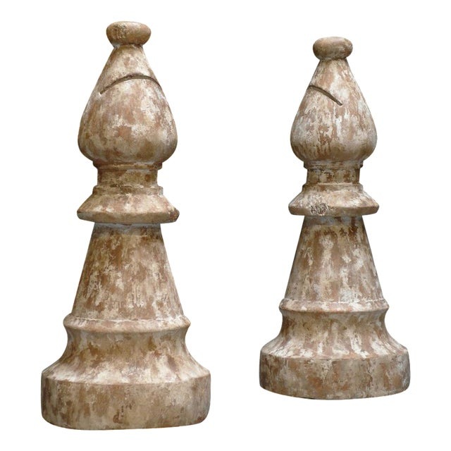 Large Chess Pieces A Pair Chairish