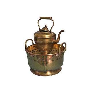 Handmade Moroccan Brass Kettle & Basin