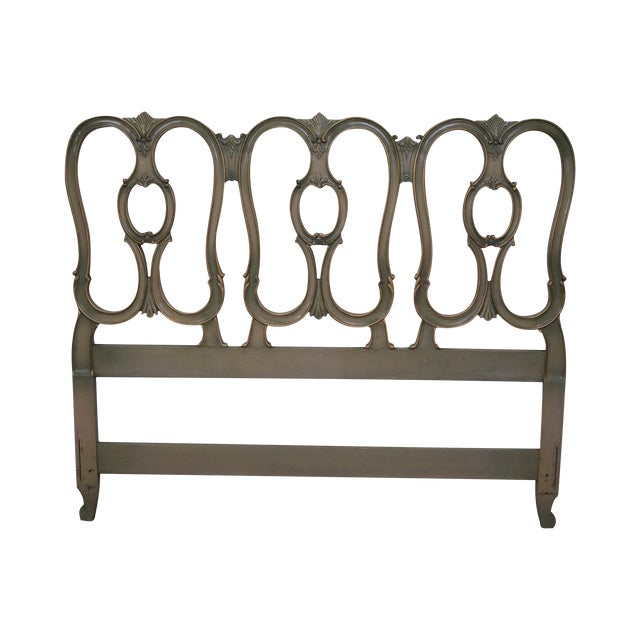 Vintage French Louis XV Style Queen Size Headboard - Image 1 of 10
