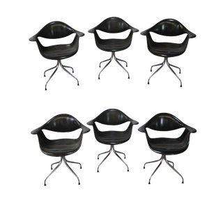 George Nelson for Herman Miller DAF Swag Leg Arm Chairs- Set of 6