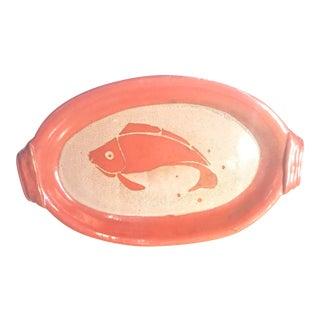 Mid-Century Studio Pottery Fish Platter