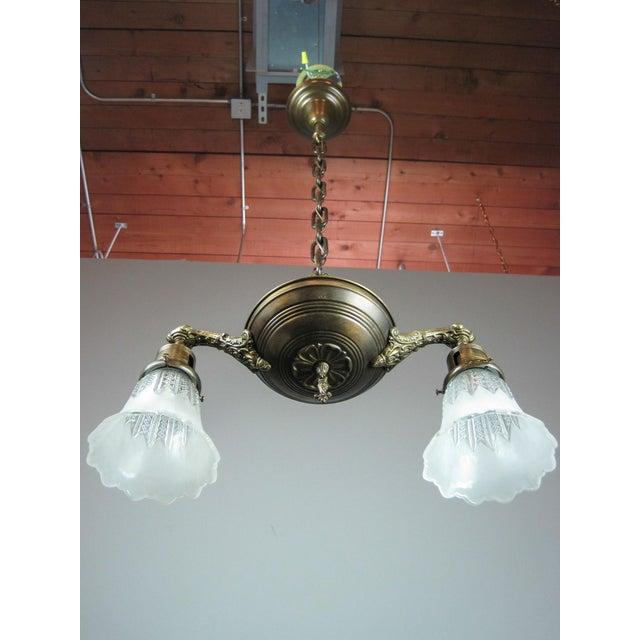 Original Pan Light Fixture (2-Light) - Image 3 of 7