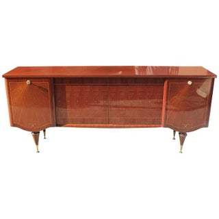 French Art Deco Exotic Macassar Ebony Sunray Buffet