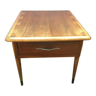 "Lane ""Acclaim"" End Table Walnut and Oak"