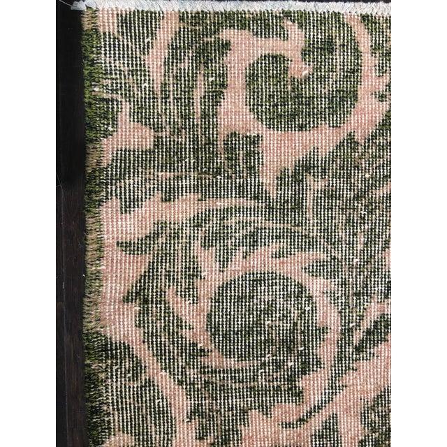 """Vintage Zeki Muren Turkish Distressed Rug- 5'6"""" x 8'10"""" - Image 7 of 7"""