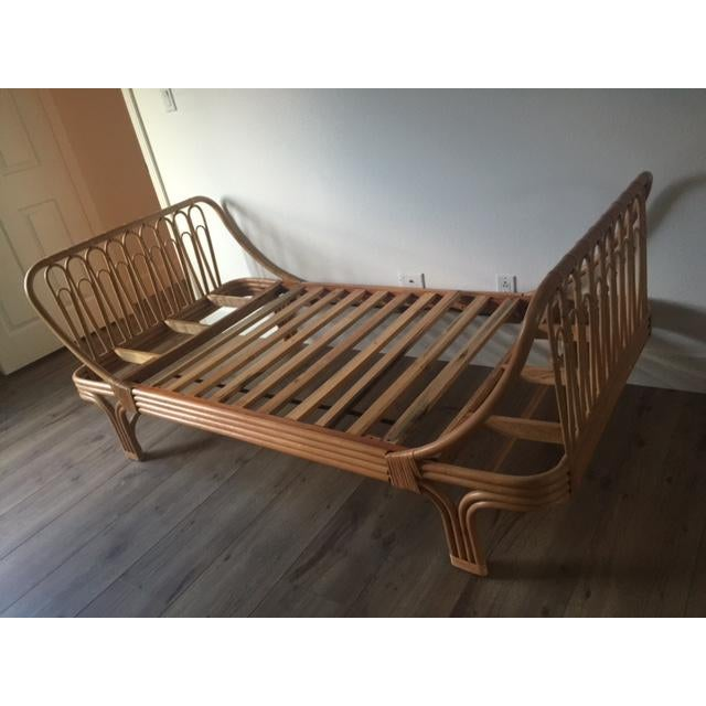 Boho Chic Rattan Twin Bed - Image 2 of 5