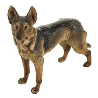 Antique Bronze German Shepherd Figurine