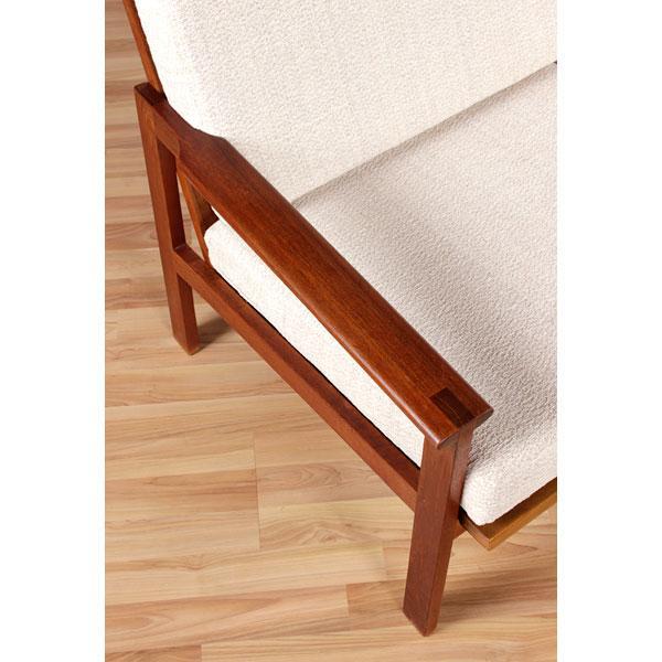 Image of Restored Vintage Illum Wikkelso Adjustable Sofa