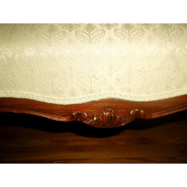 French 19th C. Walnut Settee Loveseat - Image 7 of 8