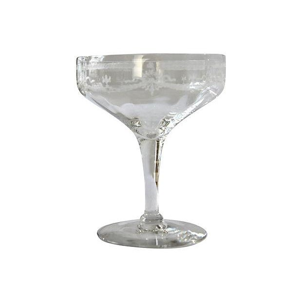 Image of Etched Champagne Coupes - Set of 4