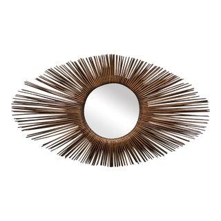 Palecek Rattan Sunburst Oval Mirror