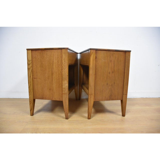 Mid-Century Walnut Nightstands - A Pair - Image 7 of 8