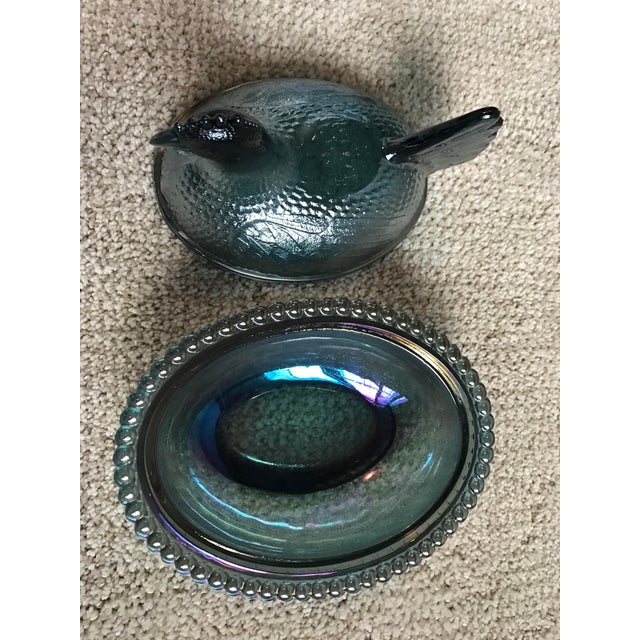 Image of Indiana Glass Blue Carnival Hen on Nest