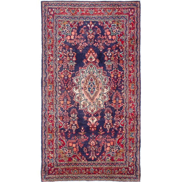 Hamadan Vintage Persian Rug - 6′8″ × 12′2″ - Image 1 of 2