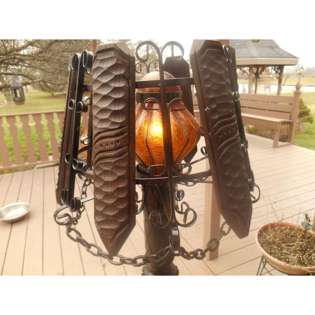 Antique Wrought Iron Barley Twist Floor Lamp Chairish