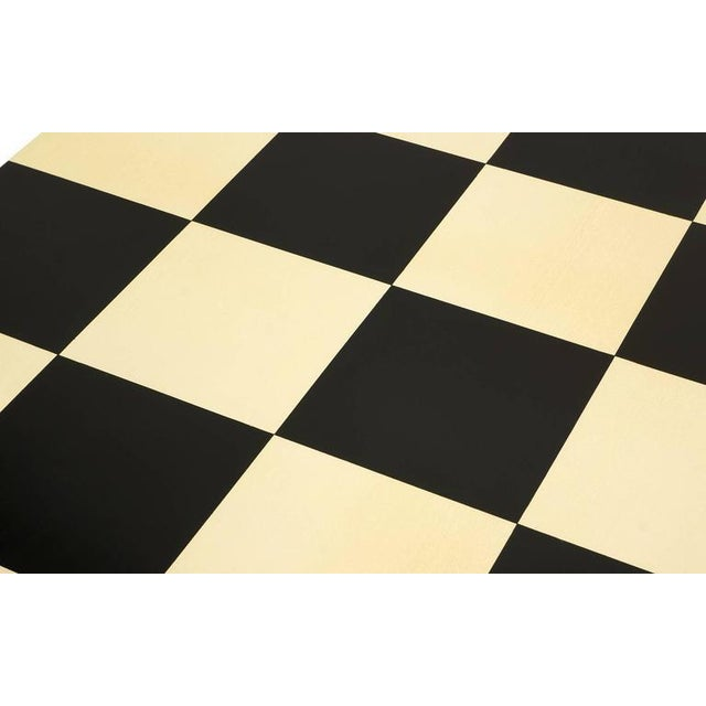 Large Square Black and White Checkerboard Coffee Table by Milo Baughman - Image 6 of 9