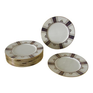 Lenox for Tiffany & Co. Hand Painted Plates - Set of 12