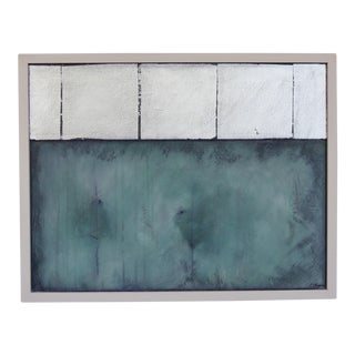Silver Linings, Green, 2017 Original Oil by C. Damien Fox