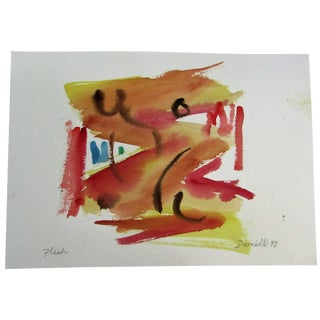 Original Abstract Watercolor by George Daniell