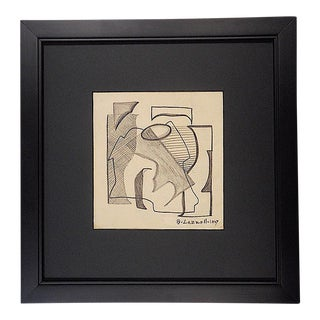 Vintage Graphite On Paper Drawing by Blanche Lazzell