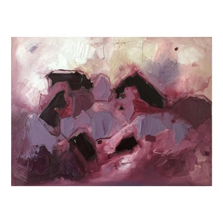 Wisteria Plum Abstract Painting