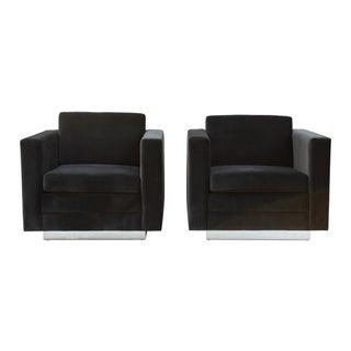 Stow & Davis Cube Club Chairs - a Pair