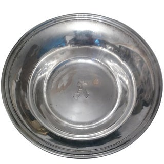 "Antique ""A"" Monogram Sterling Bowl"