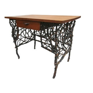 Rare and Unique Adirondack Twig Writing Desk