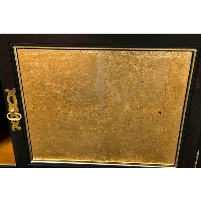 French Louis XV Style Ebonized Cabinet on Chest - Image 3 of 6
