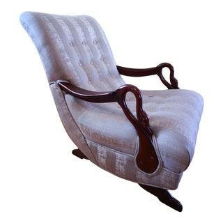Antique 1930's Swan Arm/Gooseneck Rocking Chair