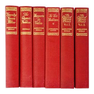 Antique Alexandre Dumas Books - Set of 6