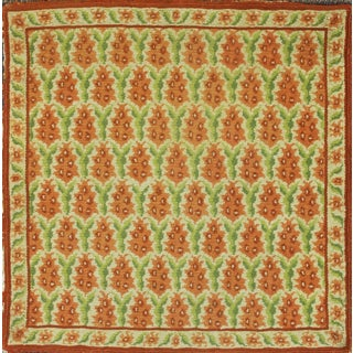Fab Stark Needlepoint Area Rug Handmade in Greece C1960s - 2′2″ × 2′2″