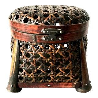 Woven Lidded Basket
