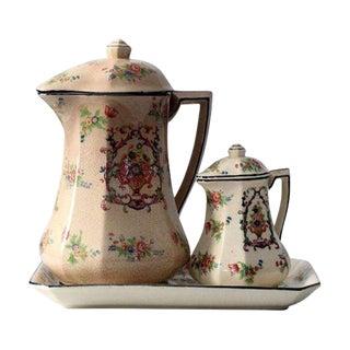 Vintage Japanese Porcelain Tea Set - Set of 3