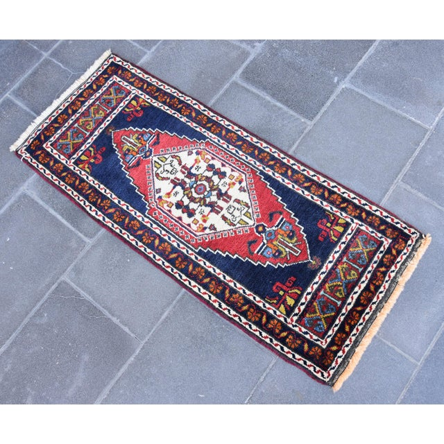 Image of Vintage Turkish Oushak Handmade Rug - 1′7″ × 3′9″