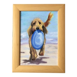 """""""Fetching"""" Oil on Canvas Painting"""