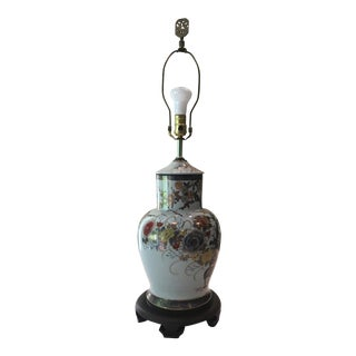 Asian Floral Table Lamp