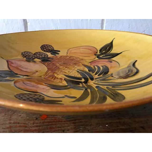 Vintage Pottery Large Shallow Fruit Bowl - Image 9 of 10