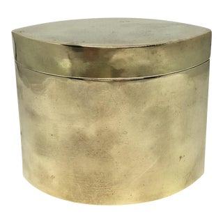 Vintage Brass Eye Shaped Box