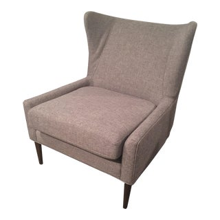 West Elm Mid Century Modern Style Wing Back Chair