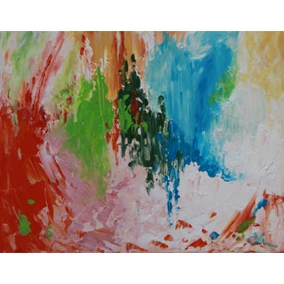 Abstract in Red ,Lime, and Blue by C. Plowden