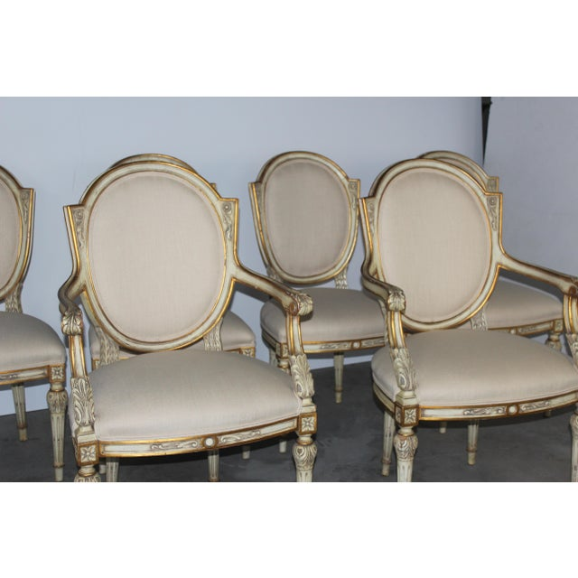 Karges Neoclassical Style Dining Chairs - Set of 6 - Image 4 of 6